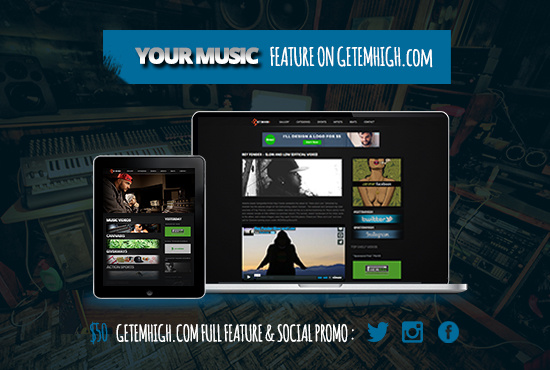 Feature your MUSIC project on my popular website