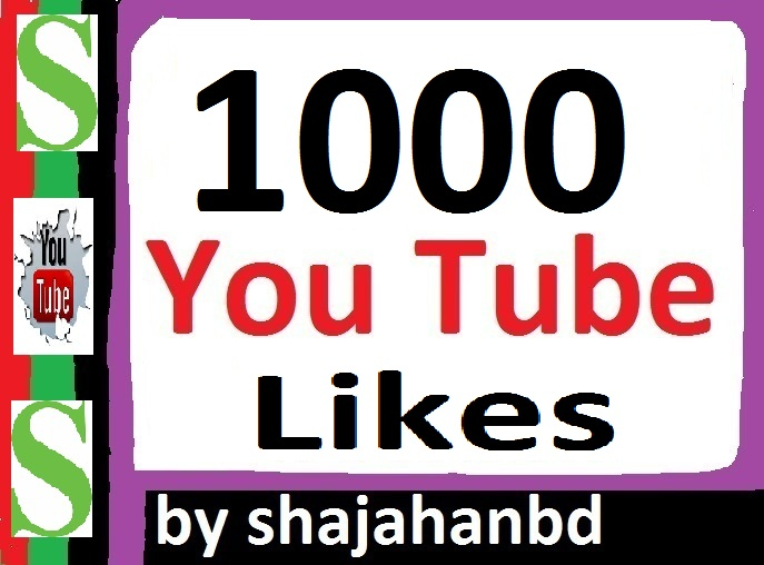 1000+ Real YouTube Video Likes no bots 12-24 Hours in Complete