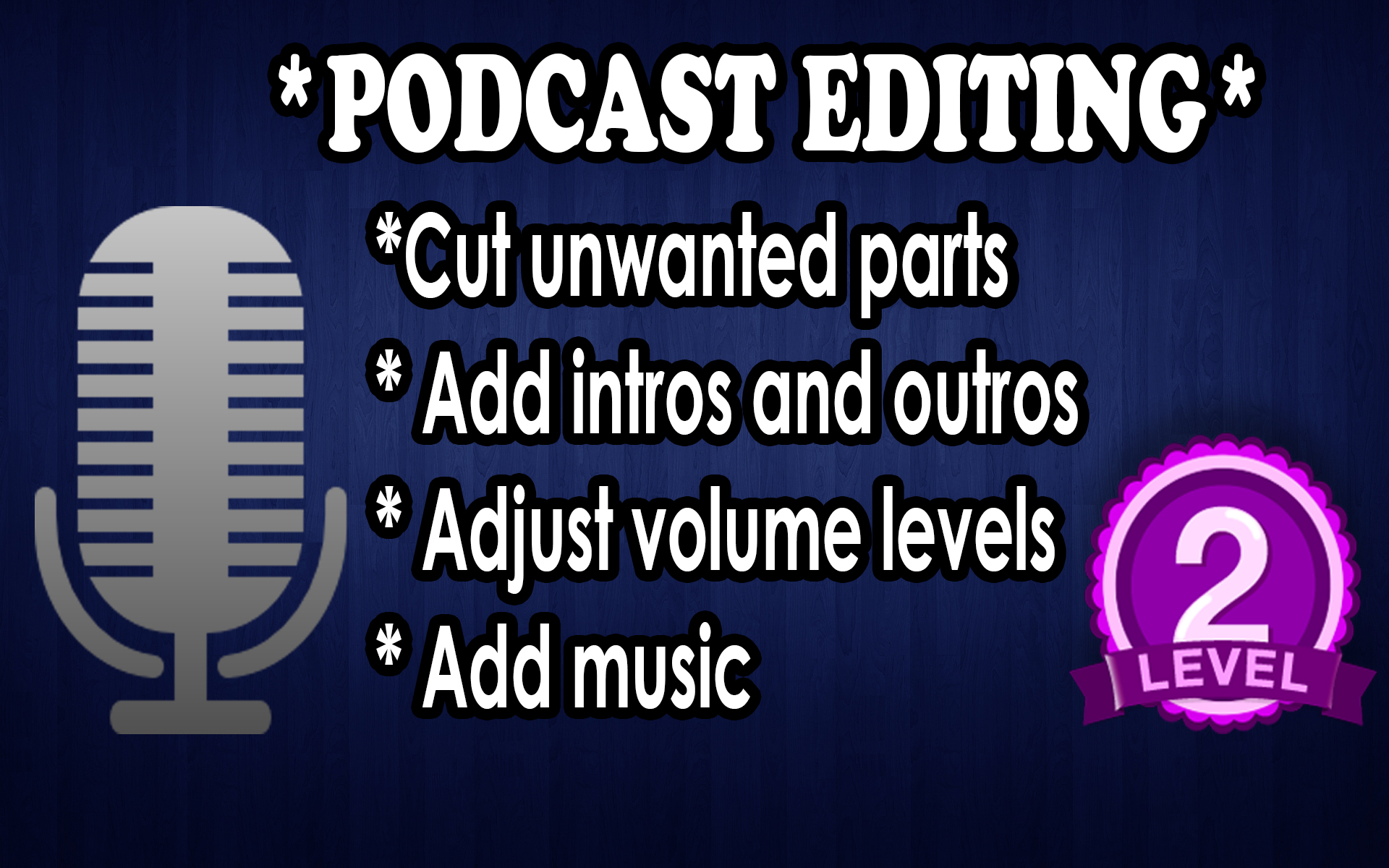 I will edit audio for podcast