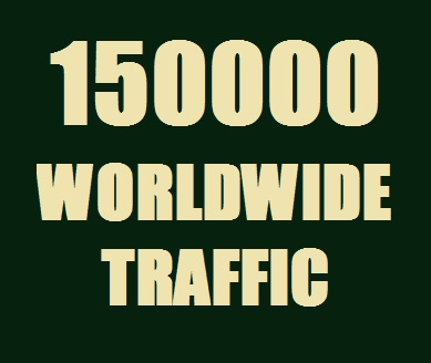 Get Real 150000 Web Traffic Worldwide in 15 Days