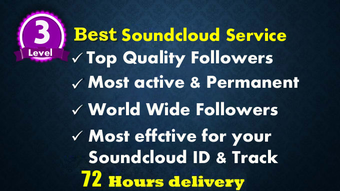 Get 620 soundcloud followers or Likes Within recovery garaunty