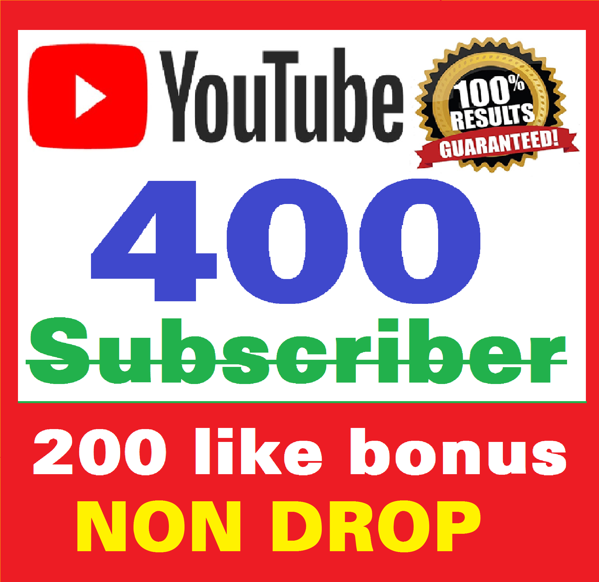 Add 400+ Real Youtube Subscribers and 200+ Likes YT Safe and Non Drop, Instant Start , top Youtube Views