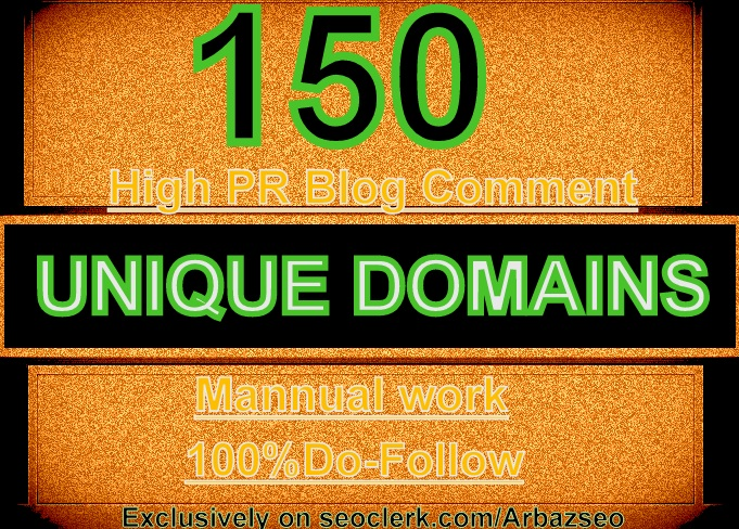 I WILL DO MANUALLY 150 BLOG COMMENTS BACKLINKS ON UNI...