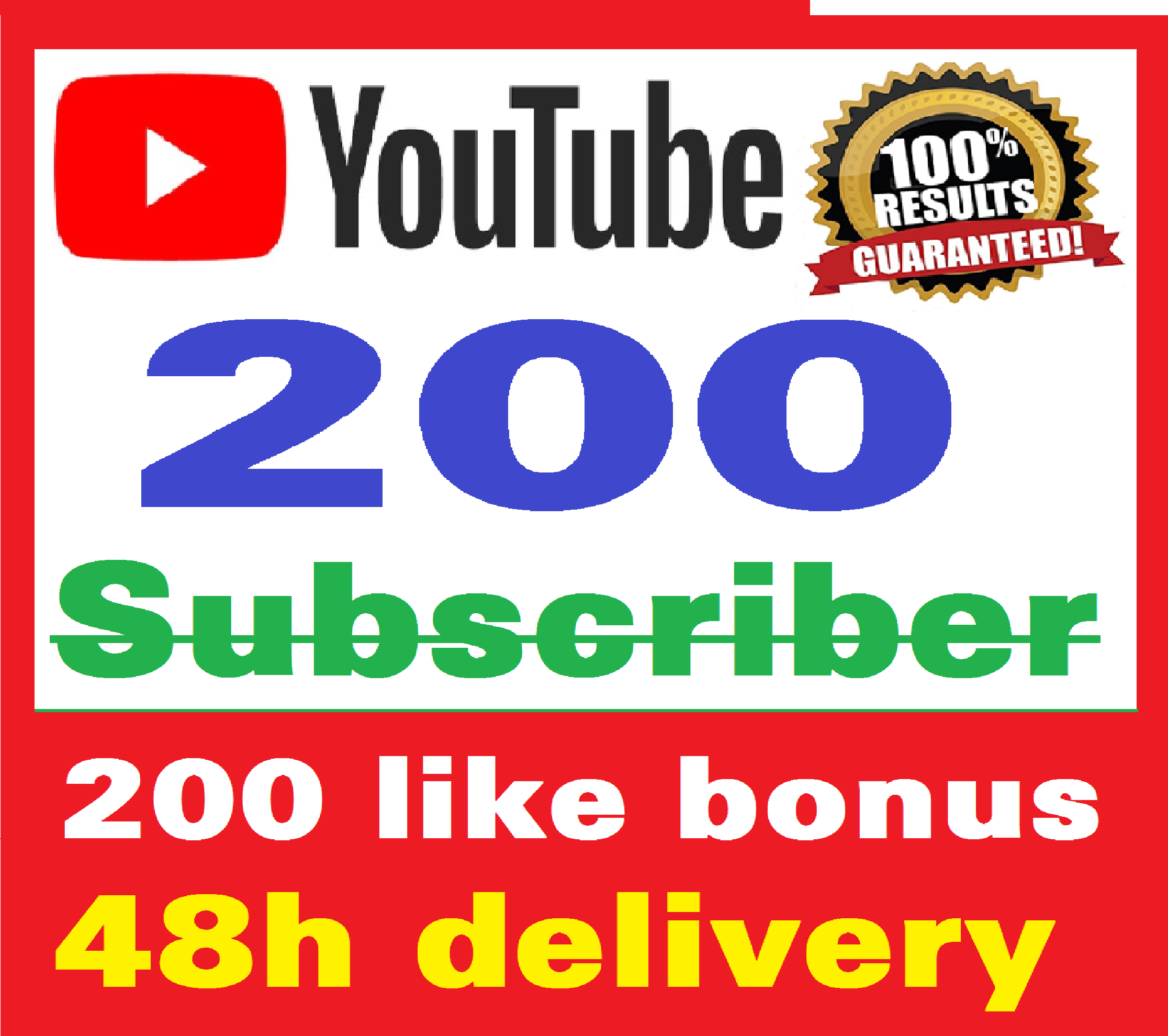 Add 200+ Real Youtube Subscriber & 200+ Likes YT Safe and Non Drop