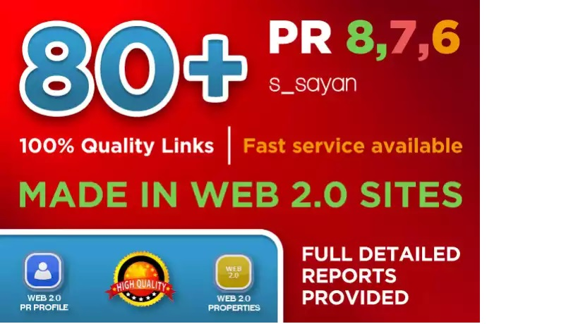 I will create 80 Real High Pr BACKLINKS, Dofollow PR8, PR9, Authority, Anchor, Seo