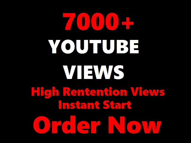 8000 YOUTUBE Views to your Videos