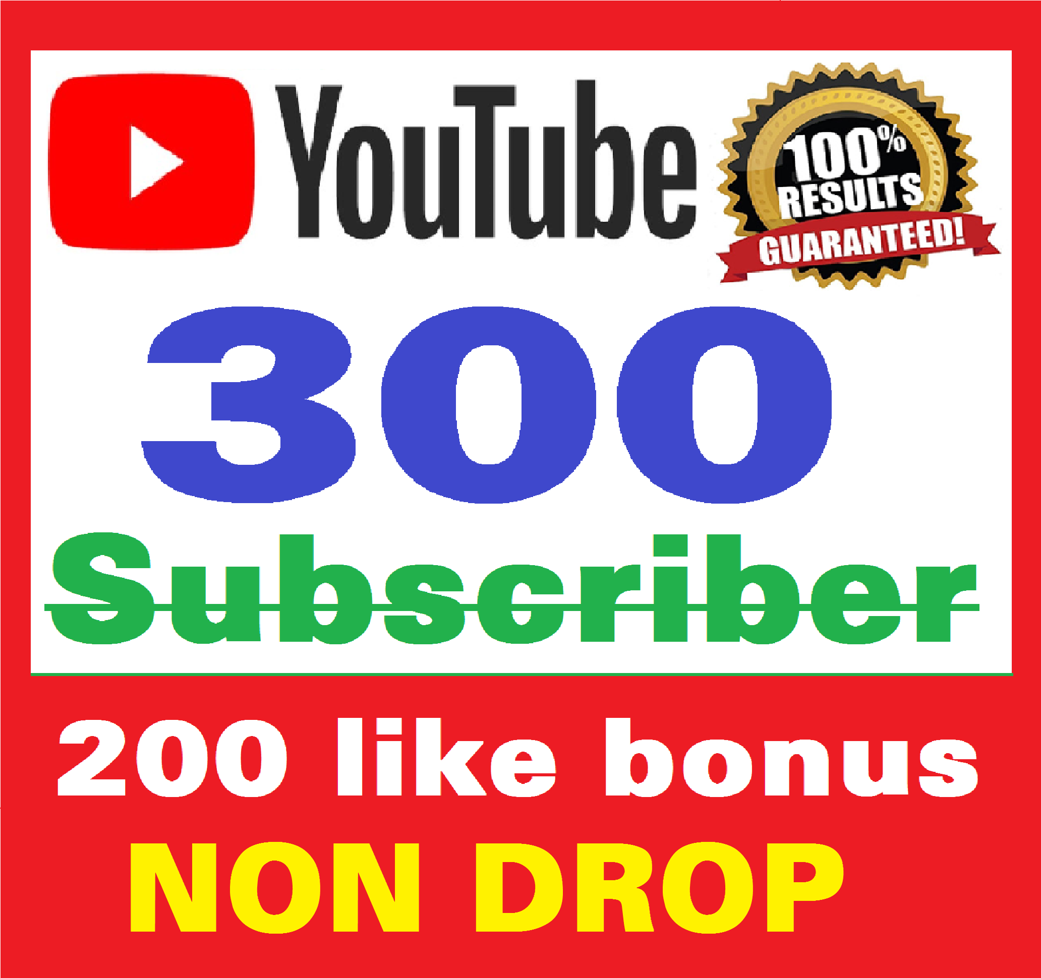 Add 300+ Real Youtube Subscribers & 200+ Likes YT Safe and Non Drop, Instant Start , top Youtube Views