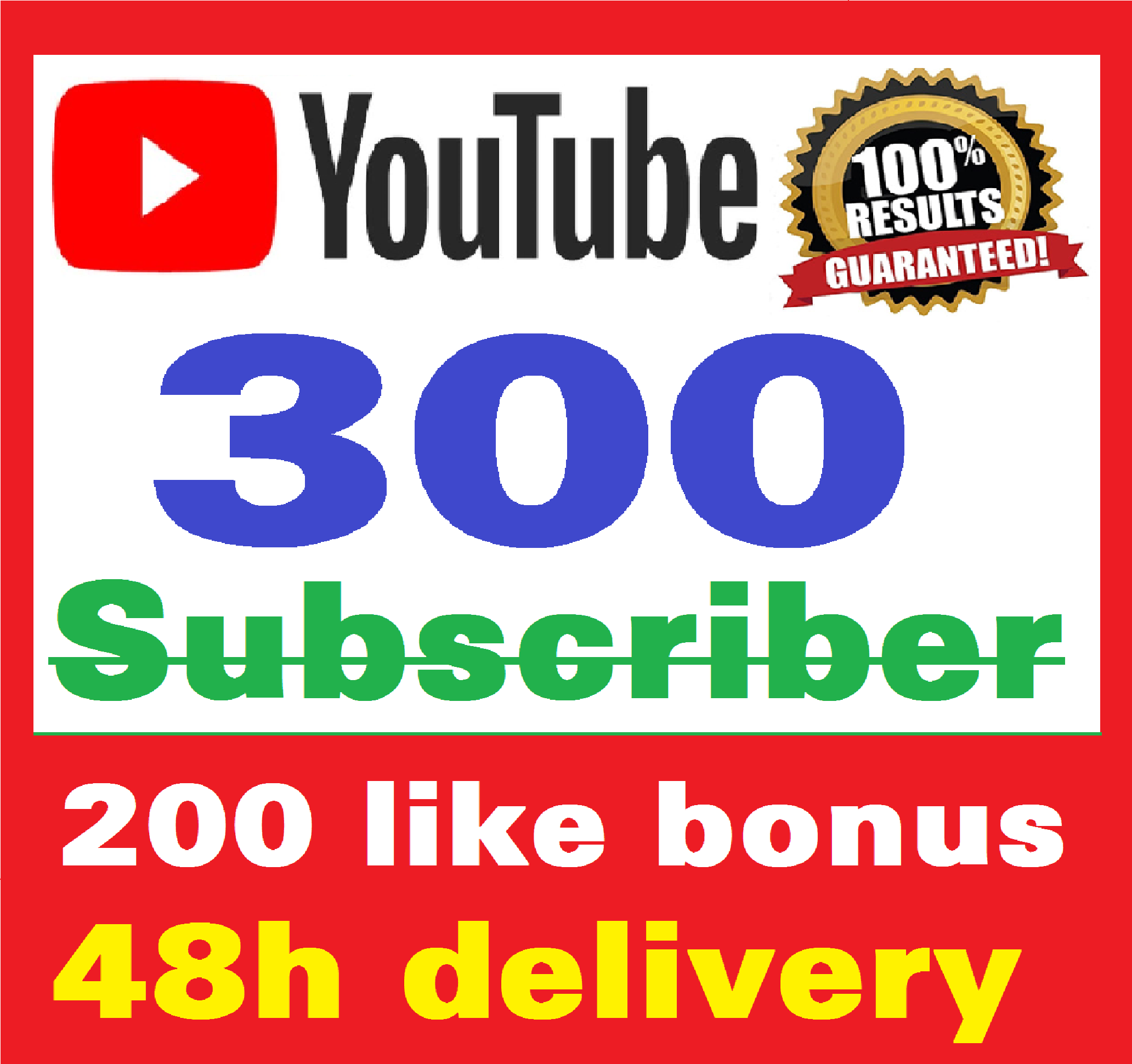 Add 300+ Real Youtube Subscriber & 200+ Likes YT Safe and Non Drop