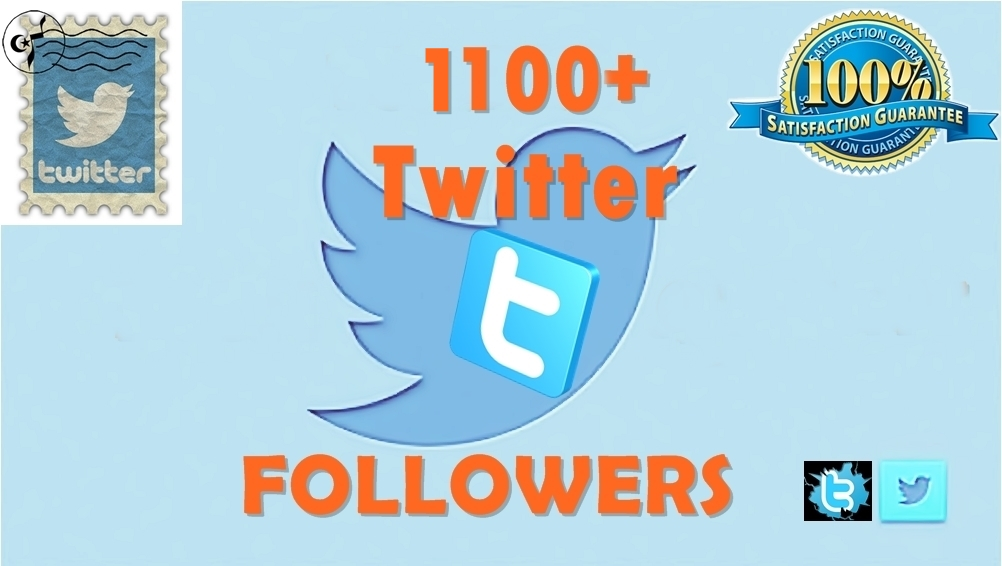 Get 1100 TW Followers