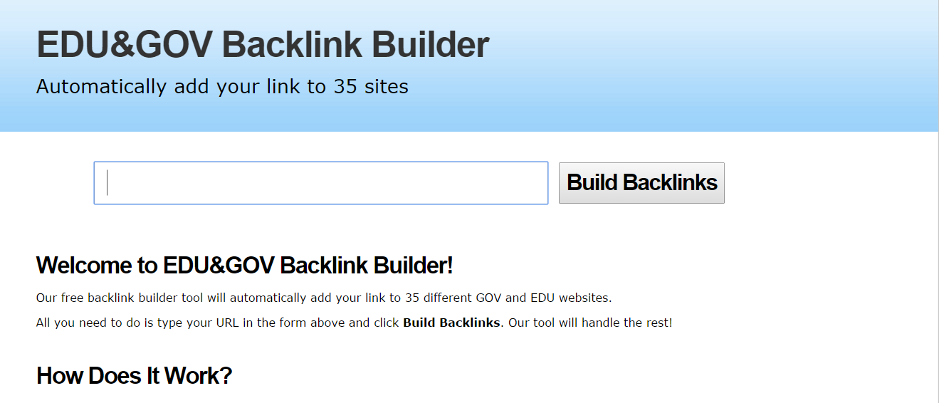 35 Edu & Gov Backlink Generator Unlimited URLS
