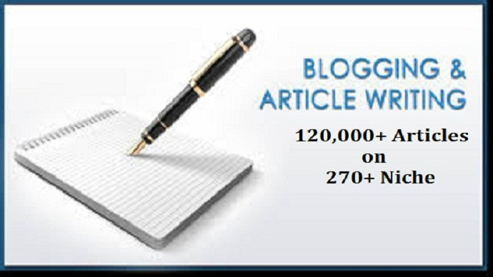 I will give you 120000 articles on almost every niche you can imagine