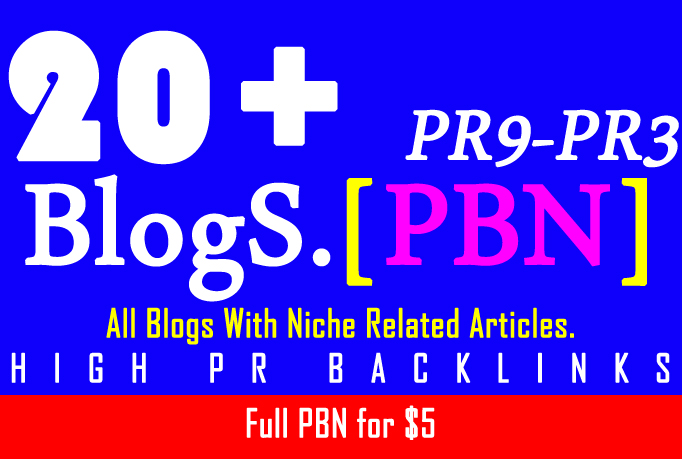 PBN Create 20+ Blog Network with niche related articl...