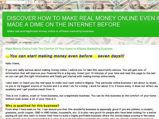 Make Money Online At The Comfort Of Your Home