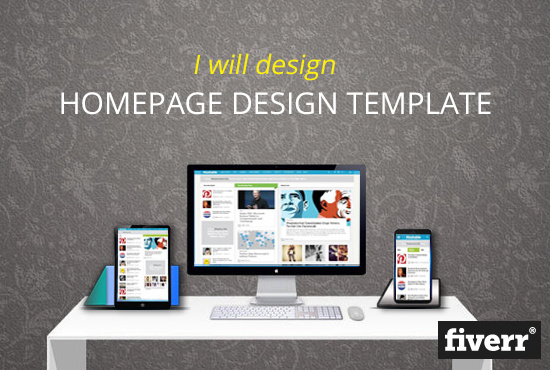 I will design a stunning website homepage in just