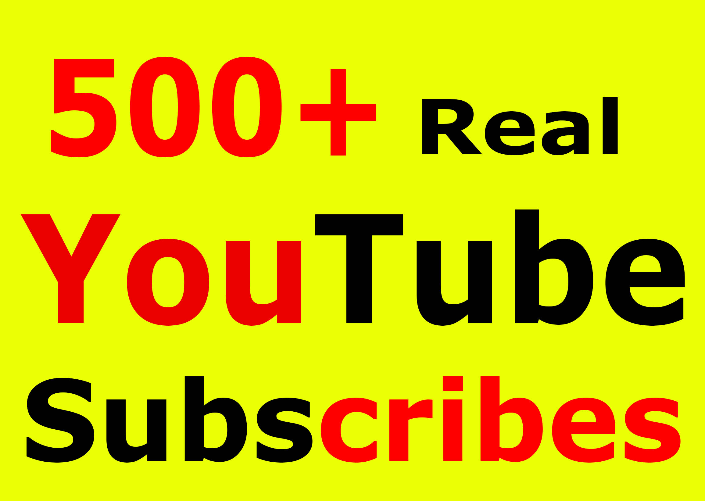 Fast 500+ YouTube Subscribers lifetime refill guarantee