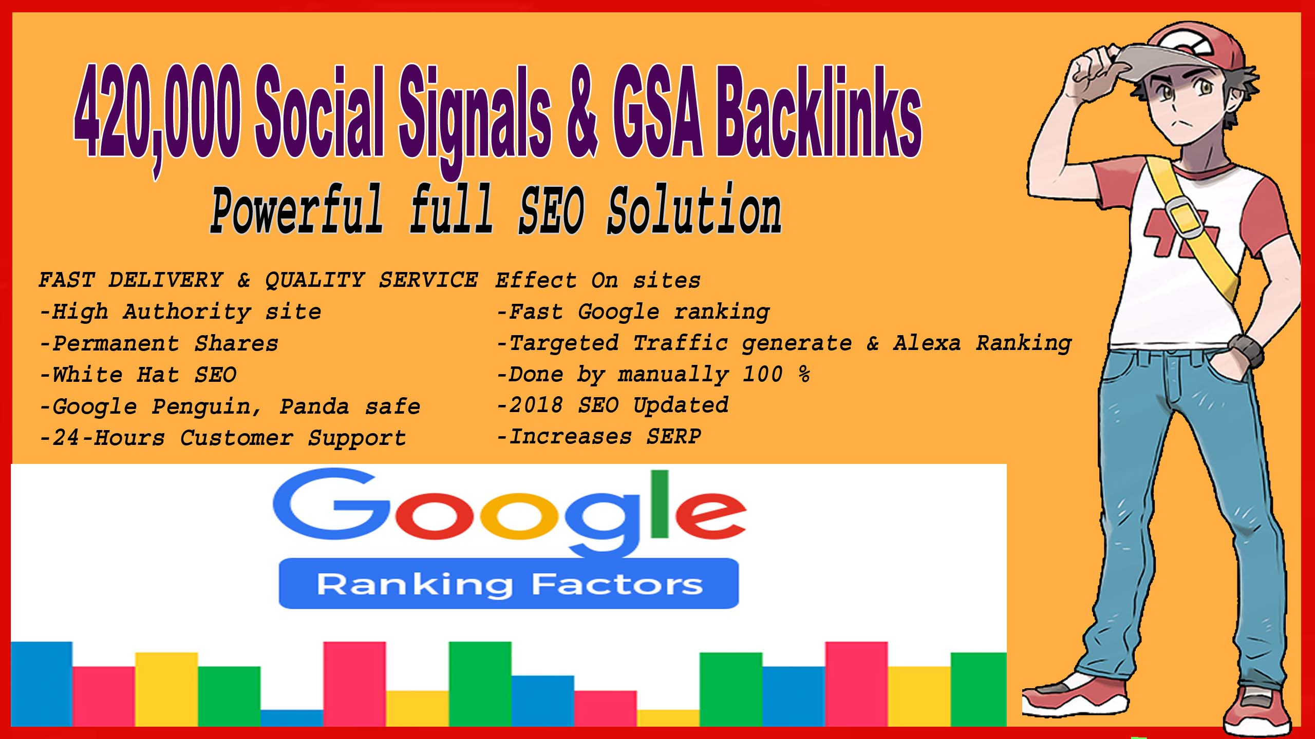 Build 420,000 Social Signals Powerful full SEO Solution with gsa backlinks