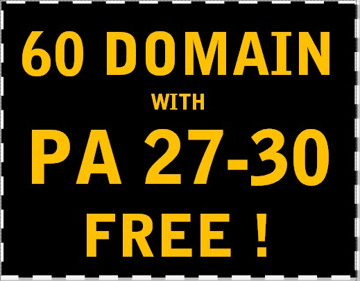 Provide 60 subdomain with PA 27-30 that you can register for FREE