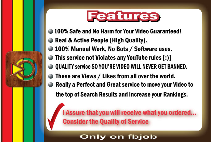 Get Fast 50000+ HQ Non Drop and Life Time Guaranty Views for Your Video