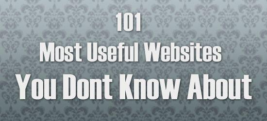 101 Useful websites eBook