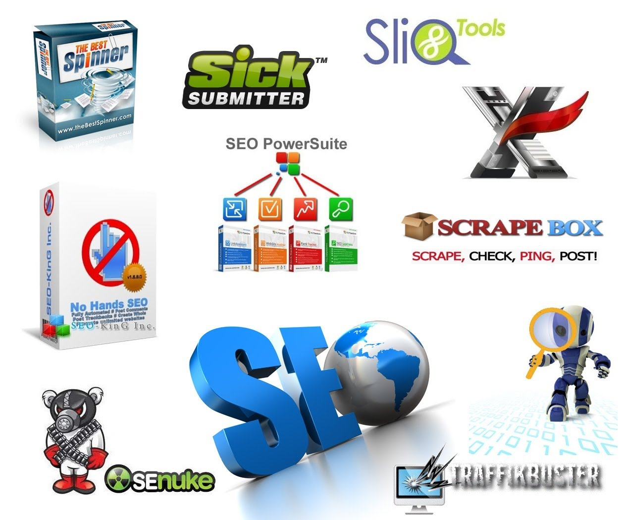 SEO megapackage tools include 333 tools for $10