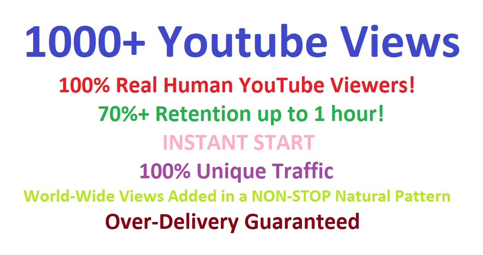Get 1000+ You Tube Vie ws to your video