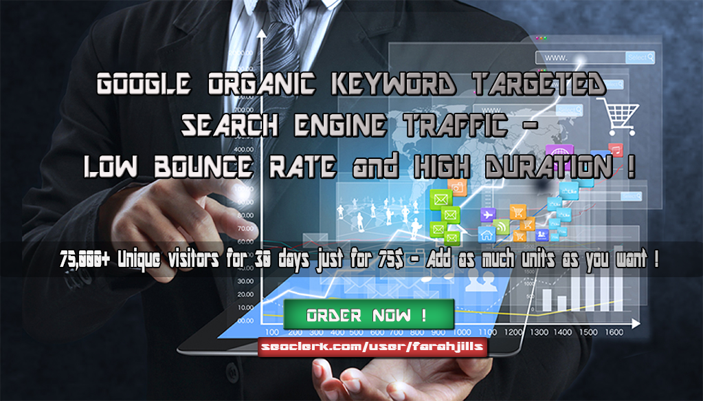 75,000+ KEYWORD TARGETED Search Engine TRAFFIC with L...