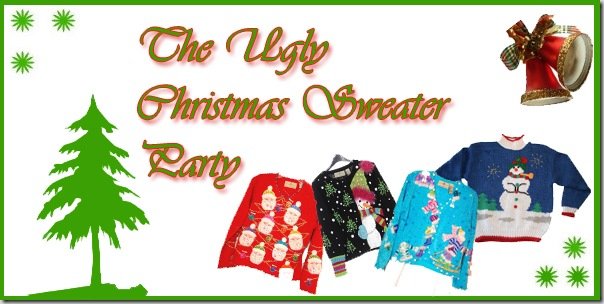 Draw cute couple or single cartoon in ugly Christmas sweater