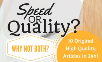 I will handwrite 10 Original 500-700 Word Articles in 24 hours. U.S Writer.