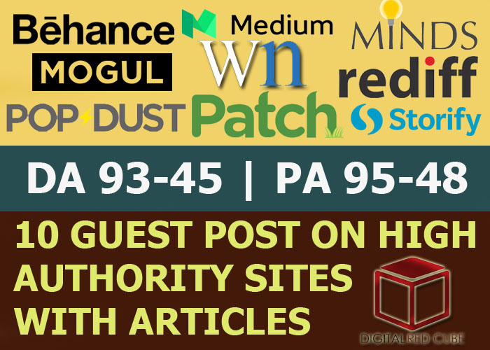 Publish 10 X High Authority Guest Post [DA 50-93][Sites Lists Updated]