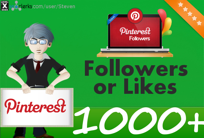 Add 1000 Pinterest Followers or Pin Likes to your profile or pin