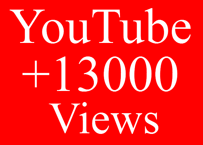 Give 13000+ High Quality Good Retention YouTube View
