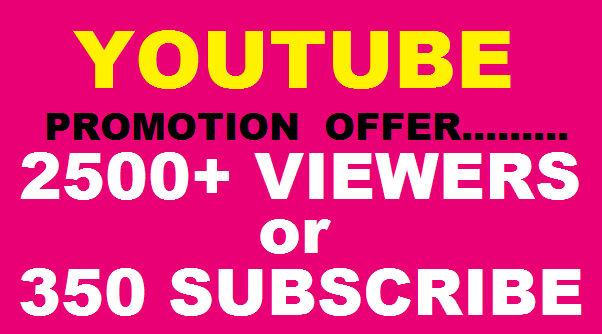 HQ Lifetime 3000++ you tube viewrs  20 likes OR 350+ YouTube Subscriber are very fast