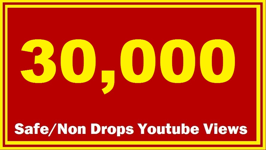 Add 30000 HR Non Drop Youtube Views