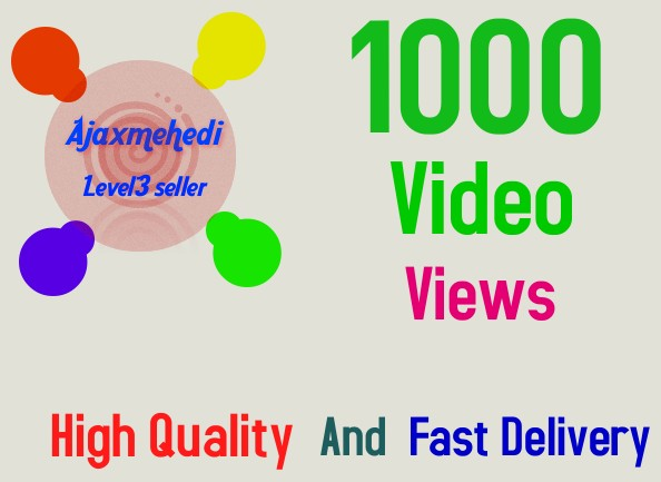 Get High Quality 1000 YouTube Video service