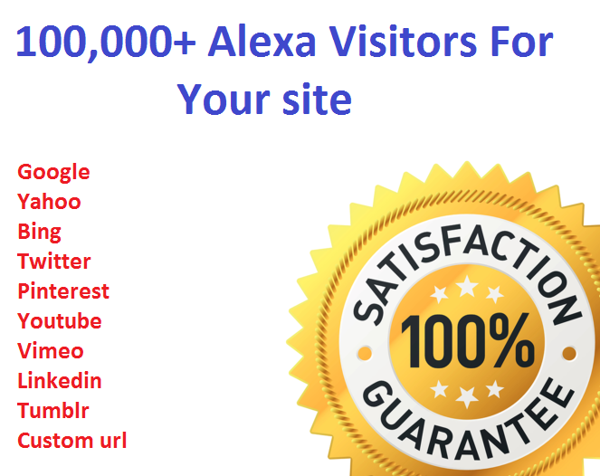 100,000+ Alexa Visitors For Your site Limited time Offer