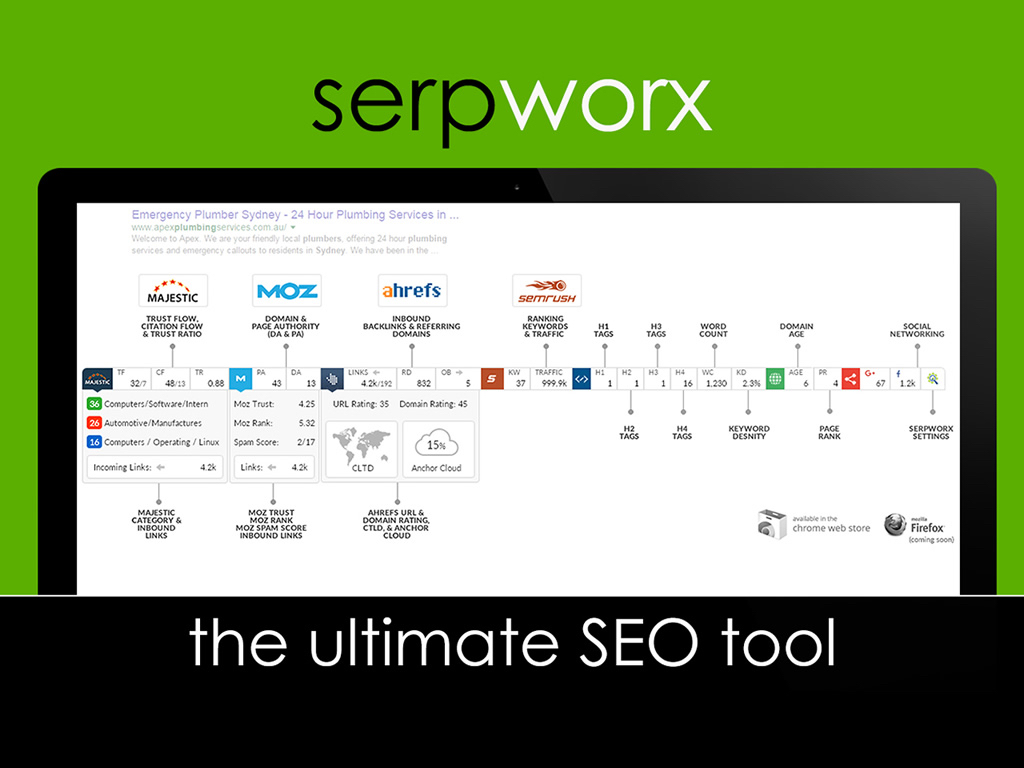 SerpWorx - The Ultimate SEO Tool for $50