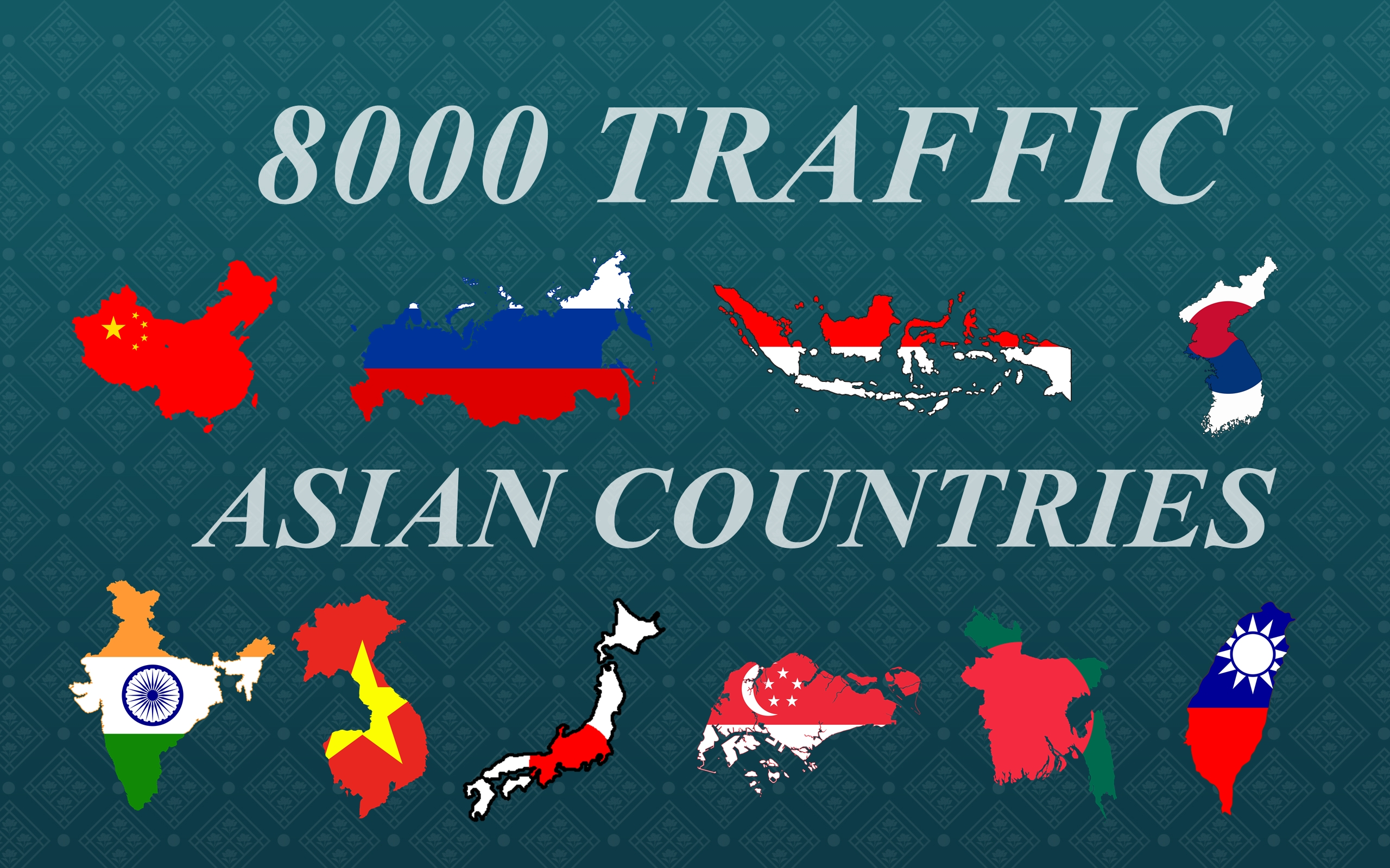 8000 traffic visitors mostly from Asian countries