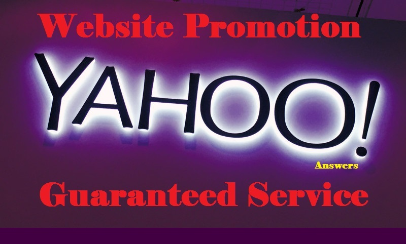 Fully new 2019 ultra fast promotion your website on Yahoo Answers