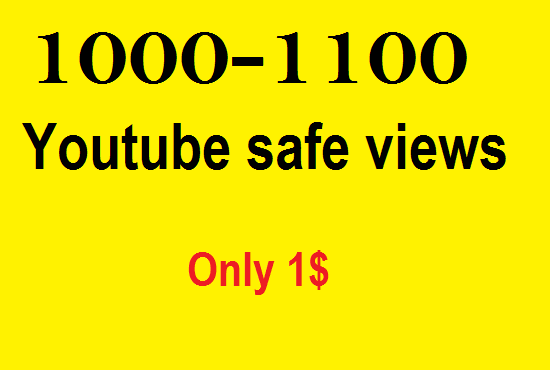 Give 1000-1100 Youtube high retention views