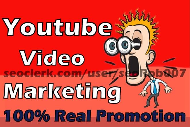 Non Drop YouTube video Marketing Guaranteed