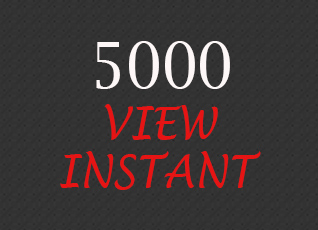 Give You 5000+ HQ Instant Youtube View