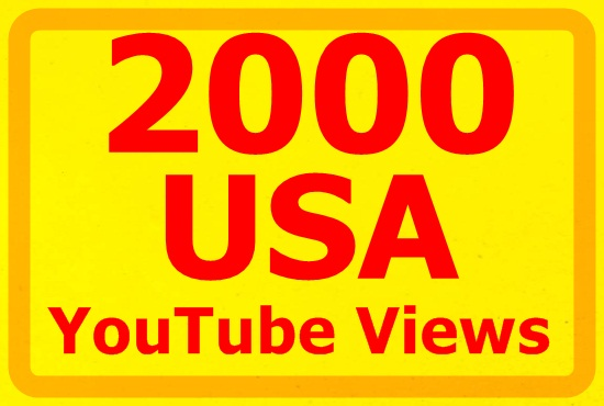 1000 real USA YouTube views in 30 days.