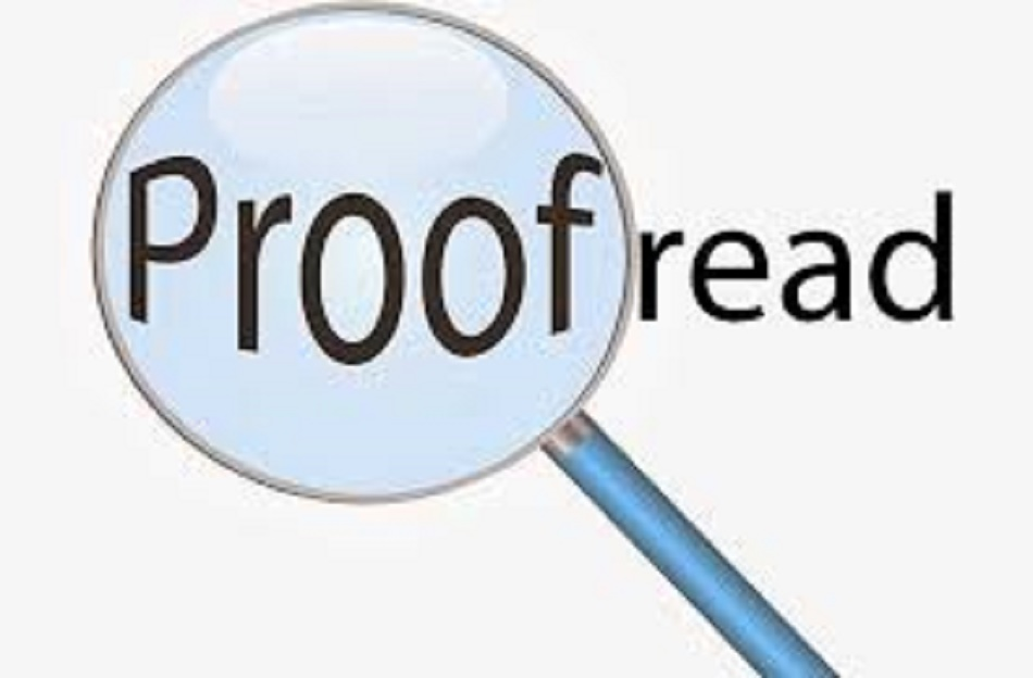 proof- reading a text in English or Arabic