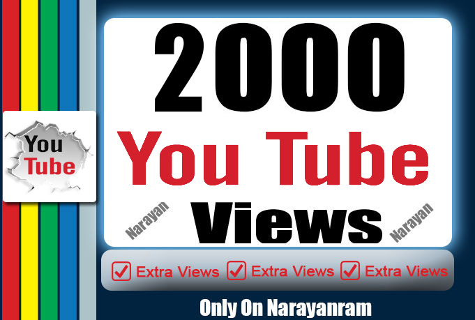 2000 YouTube Suggested views Fully safe