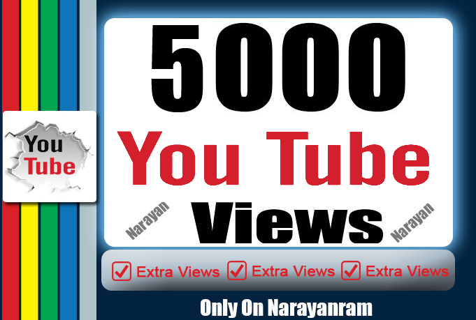 5000+ High Quality Instant Fast YouTube Views 36 Hrs Delivery Time