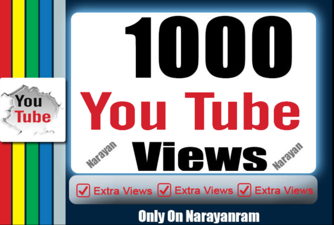 1000 To 1500 High Quality YouTube Views Fully safe