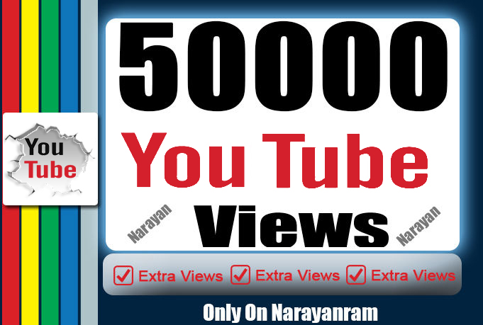 50000+ (50k) YouTuber Views Best Quality Instant start