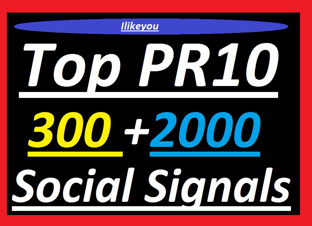 Top 300 Google Plus Post Share SEO Social Signals + 2000 PR10 Share / Backlinks / Bookmarks - Help to rank your website or Video In Google First Page