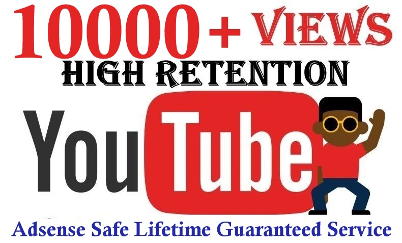 10000+Youtube views Good Retention Safe and effective