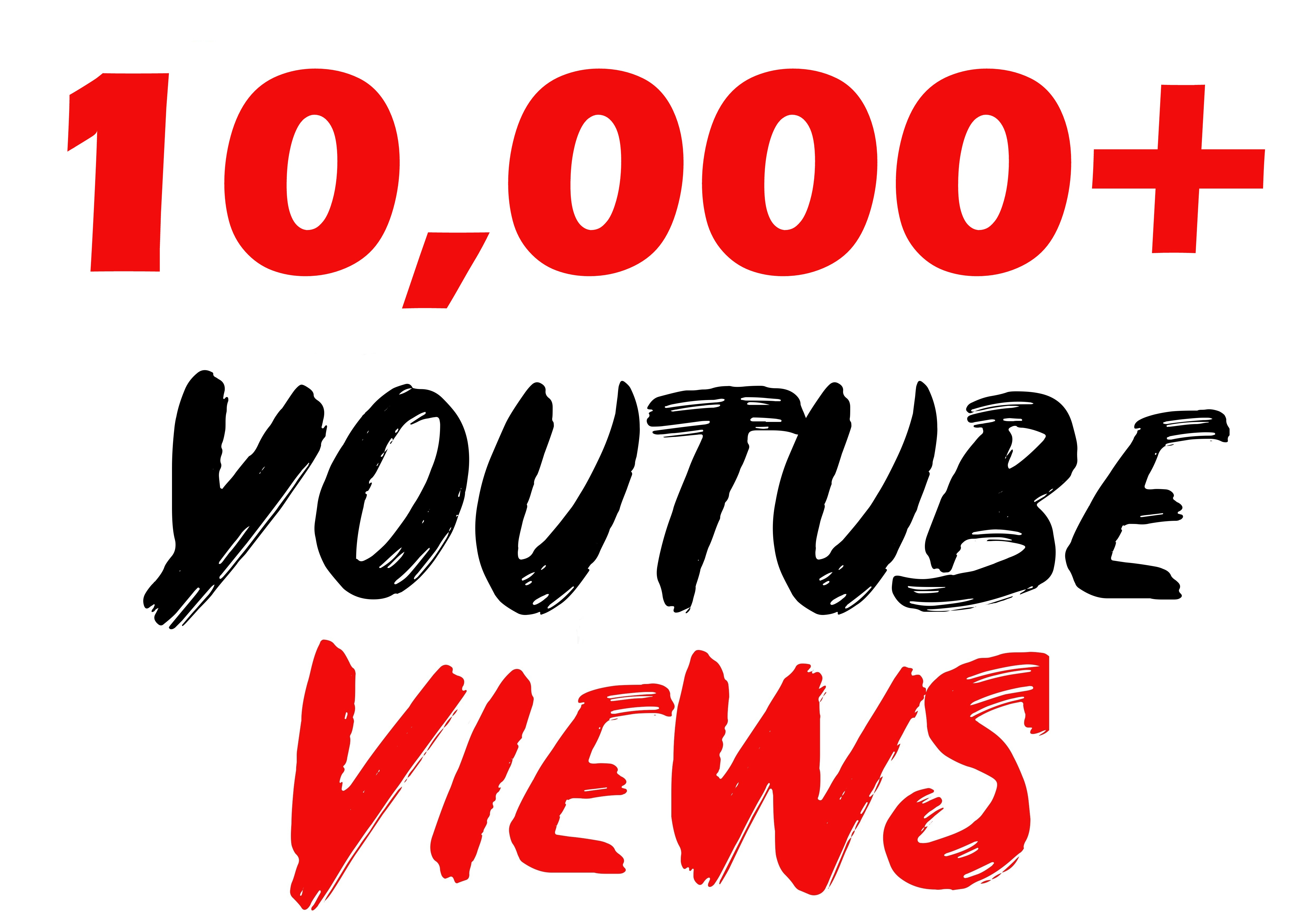YOUTUBE 10000+ Views Lifetime Guarantee Fast & Effective